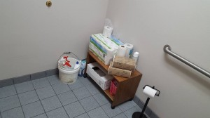 Tammy's creepy staff bathroom